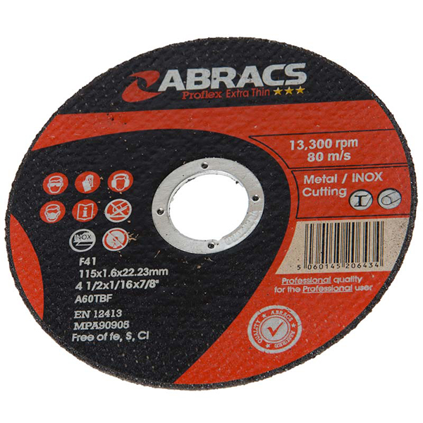 Proflex Thin Cutting Disc 115mm X 1.6Mm X 22mm Flat Inox