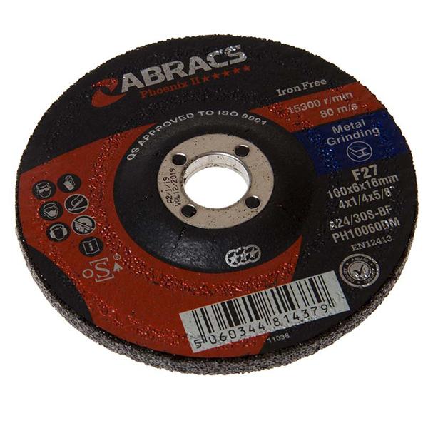 Phoenix 100mm x 6.0mm x 16mm DPC Grinding Disc