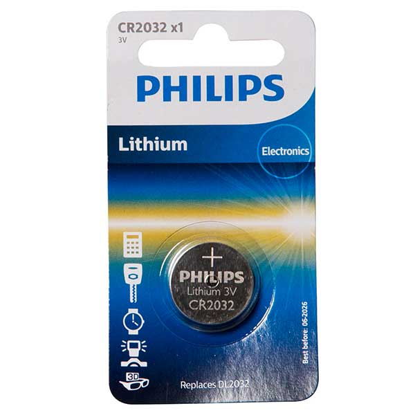 Philips CR2032 Lithium Mini Cell