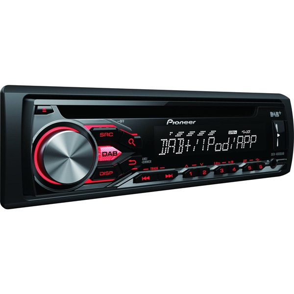 Pioneer DEH-S400DAB Single Din Head Unit with free DAB aerial