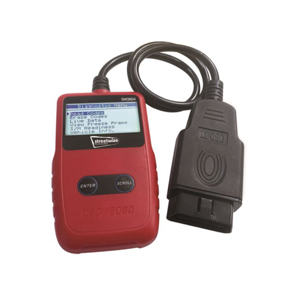 Streetwize OBDII Fault Code Reader - LCD Screen