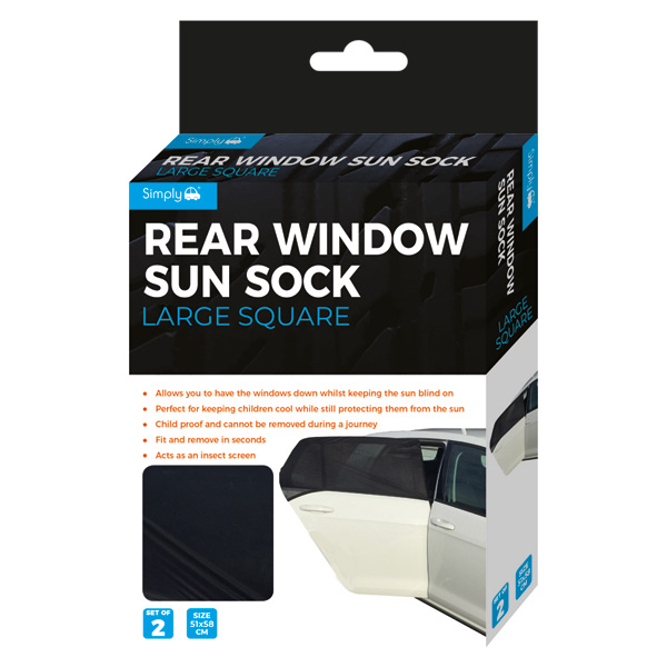 Large Square Sun Sock 2 Pack