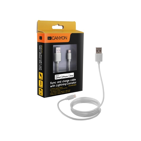 Certified Apple MFi Ultra-Compact Phone Cable White
