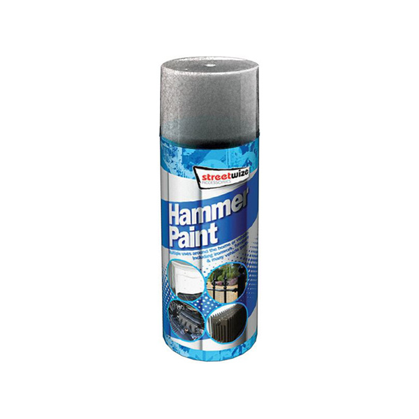 Streetwize Hammer Finish Paint Silver
