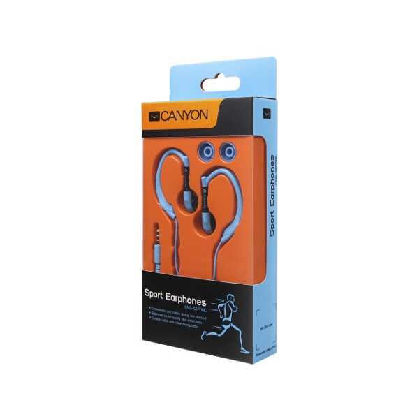 Sport Earphones with Microphone Blue