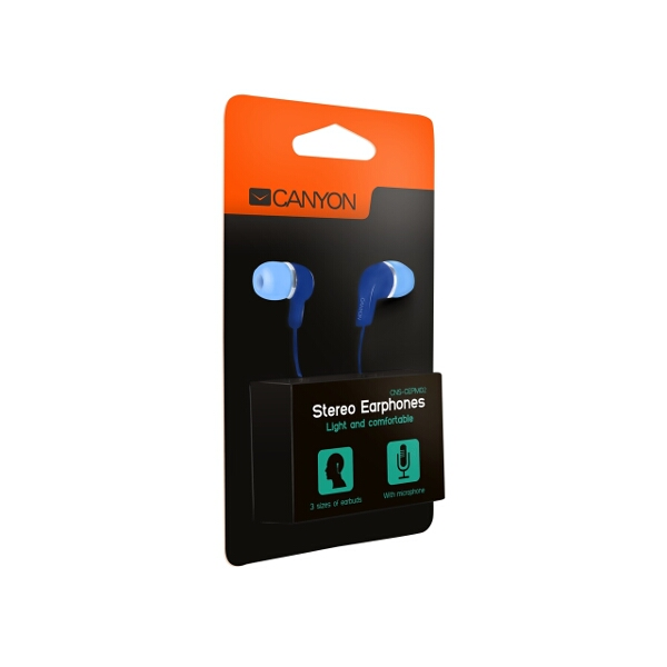 Canyon Earphones with Microphone Blue