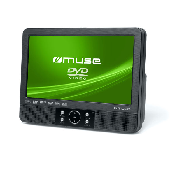 """Muse 9""""Tft Lcd Display Car Video Player Dvd."""