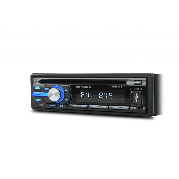 Muse Car Radio With Cd, Usb & Micro Sd Card Reader