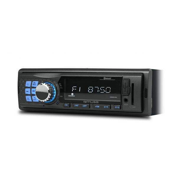 Muse Car Radio With Bluetooth & USB/SD Card Reader
