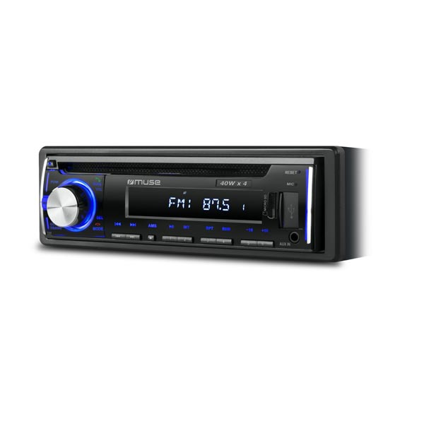 Muse Car Radio CD Player With Bluetooth & USB / Micro SD Card Reader