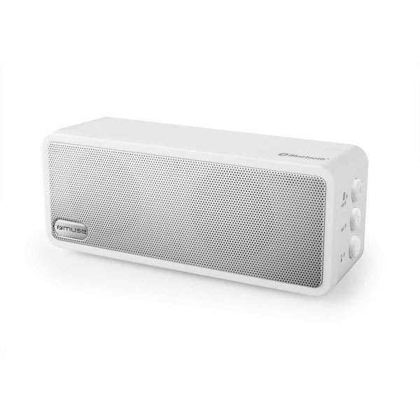 Muse Wireless Portable Bluetooth Speaker 2X3W Output Power In White