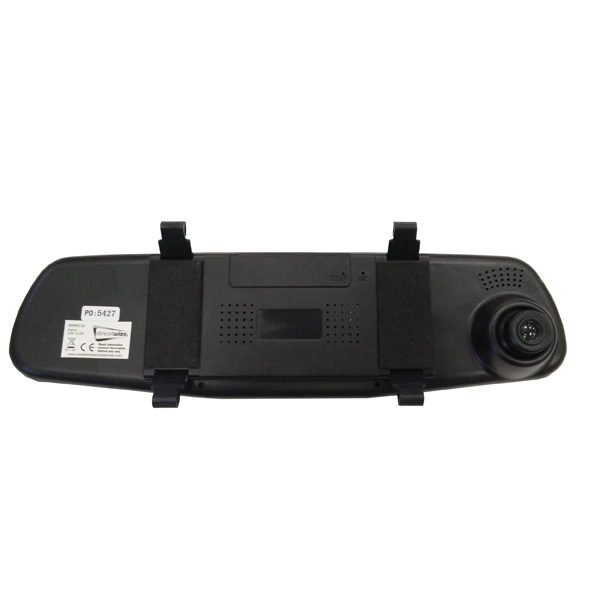 "Streetwize Rear view mirror mount dash cam with 3.5"" HD screen, providing quality video evi"