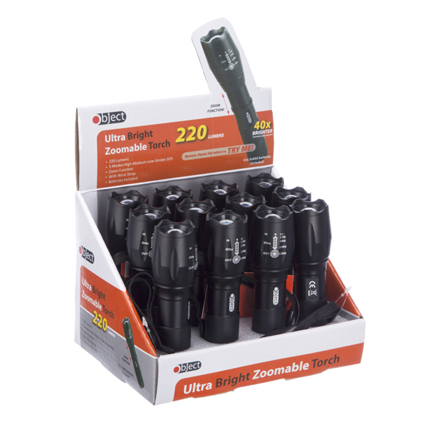 Object Ultra Bright Zoomable Torch