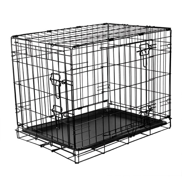 RAC Metal Fold Flat Crate With Plastic Tray Small