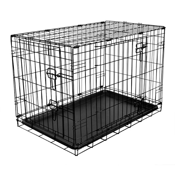 RAC Metal Fold Flat Crate With Plastic Tray Medium