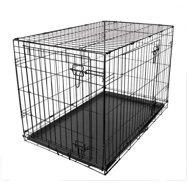 RAC Metal Fold Flat Crate With Plastic Tray Large