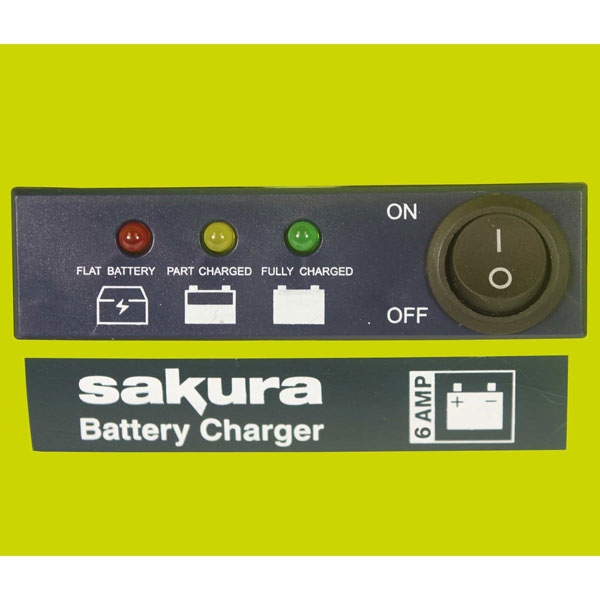 Sakura 6A 12V Battery Charger