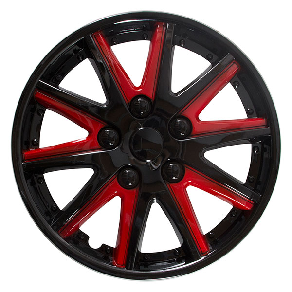 "Sakura Comet Wheel Covers 13"" Red"
