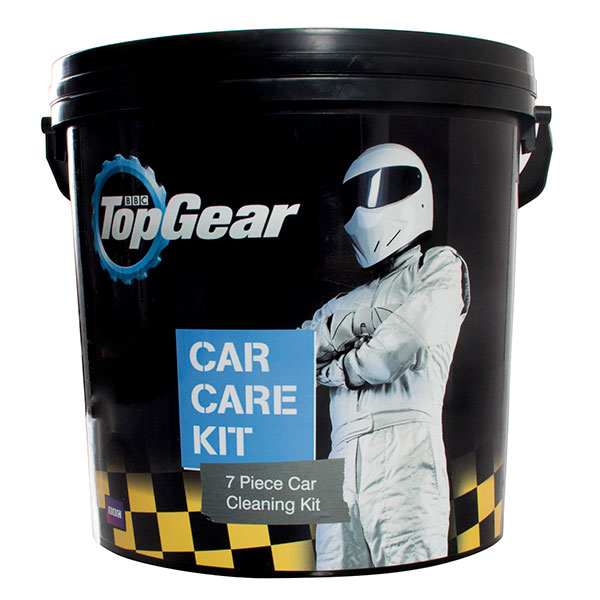Top Gear Car Care Bucket - 7pc Kit