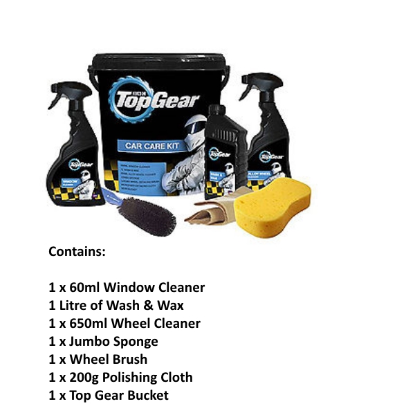Little Tree Top Gear Car Care Bucket - 7pc Kit