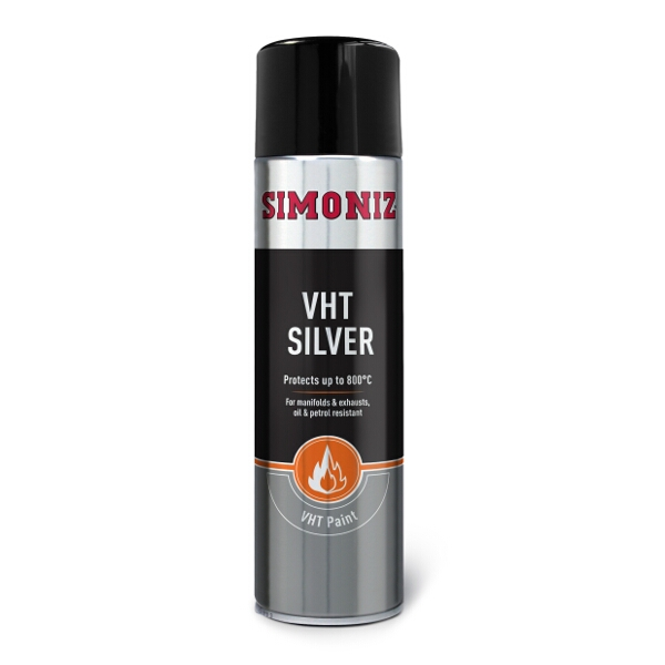 Simoniz Silver VHT Spray Paint 500ml