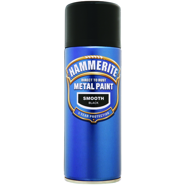 Hammerite Hammerite Smoothrite Black 400ml  Aero