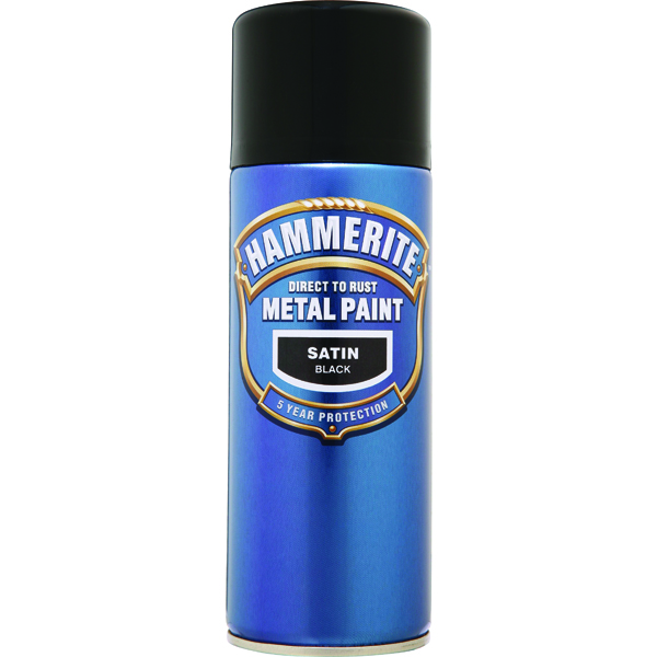 Hammerite Hammerite Smoothrite 400ml Satin Black -