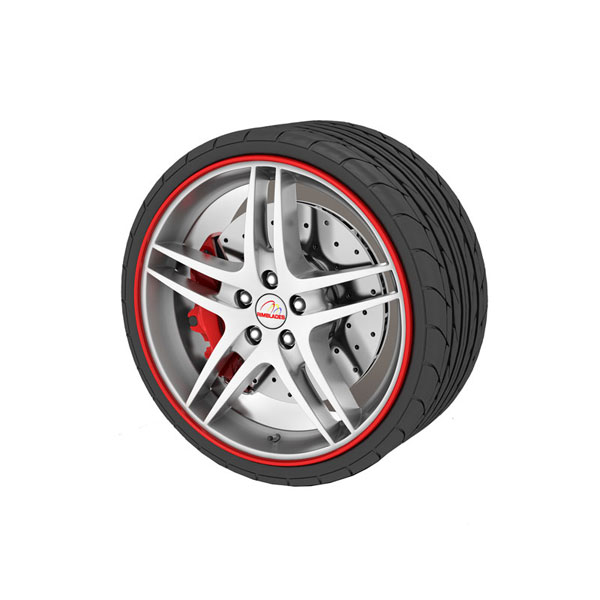 Alloy Wheel Protector Red