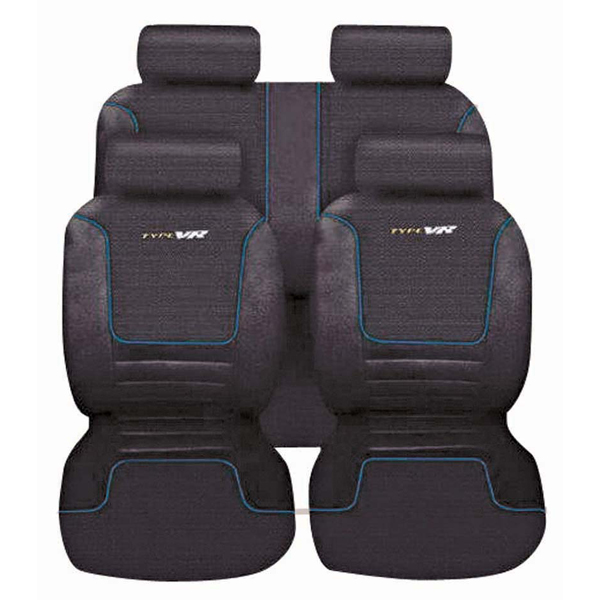 Autocare Blue / Grey Mesh Racing Seat Cover