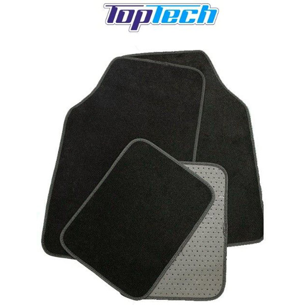 Top Tech Black Universal Mat Set of 4