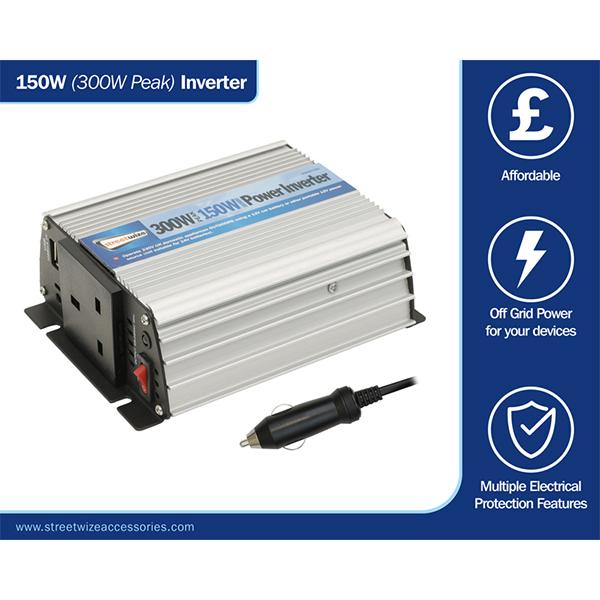 Streetwize 12v - 240v Inverter 150 watt