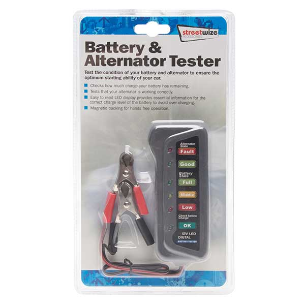 Streetwize Battery and Alternator Tester