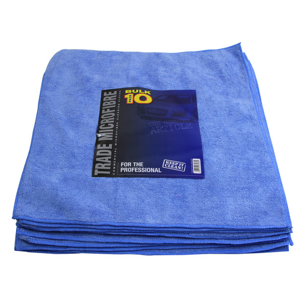 Euro Car Parts Premium Microfibre 10 Pack 40x40cm - BLUE