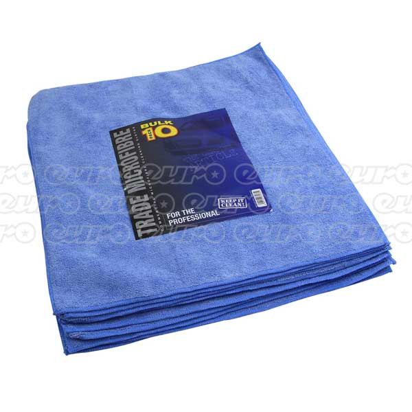 Trade Quality Premium Microfibre 10 Pack 40x40cm - BLUE