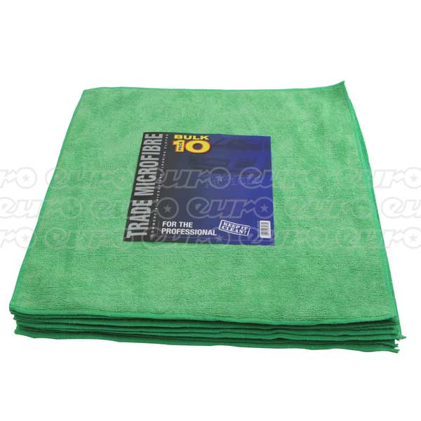 Trade Quality Premium Microfibre 10 Pack 40x40cm - GREEN