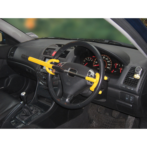 Streetwize Double Hook Steering Wheel Lock - Yellow