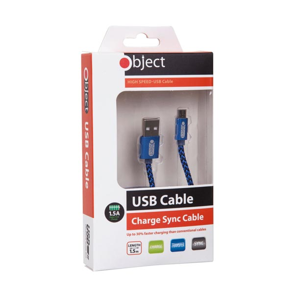 Object USB High Speed Micro Cable Blue
