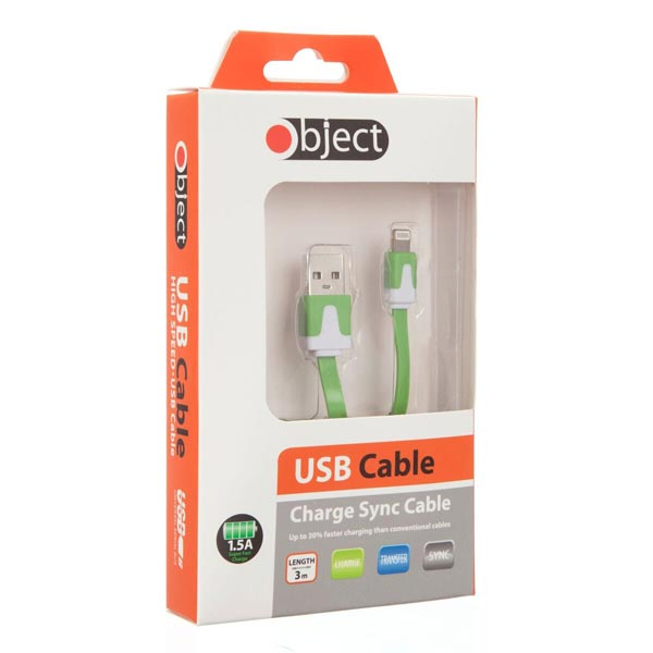 Object 3M Iphone 5 Cable Green