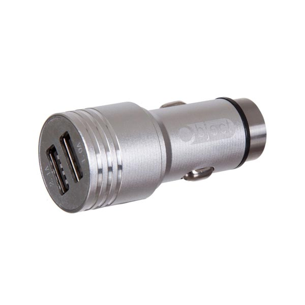 Object 2 In 1 Dual USB Adaptor Silver