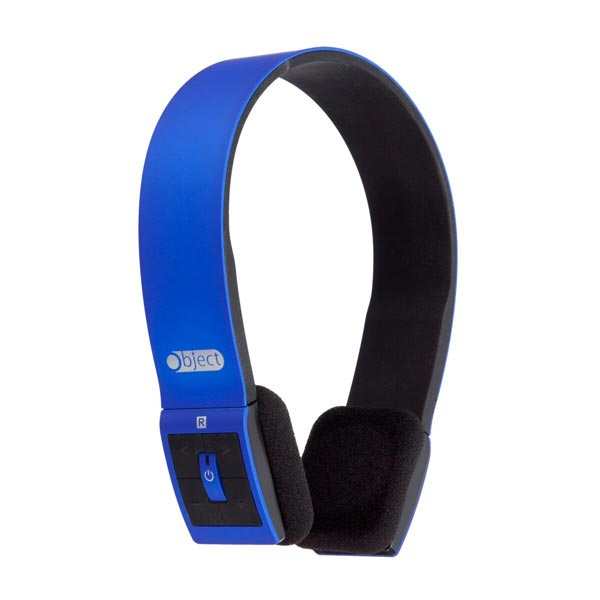 Object Bluetooth Stereo Headphones Blue
