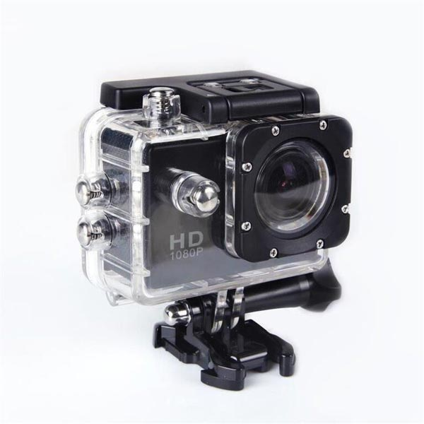Object 1080p Waterproof Action Camera Black