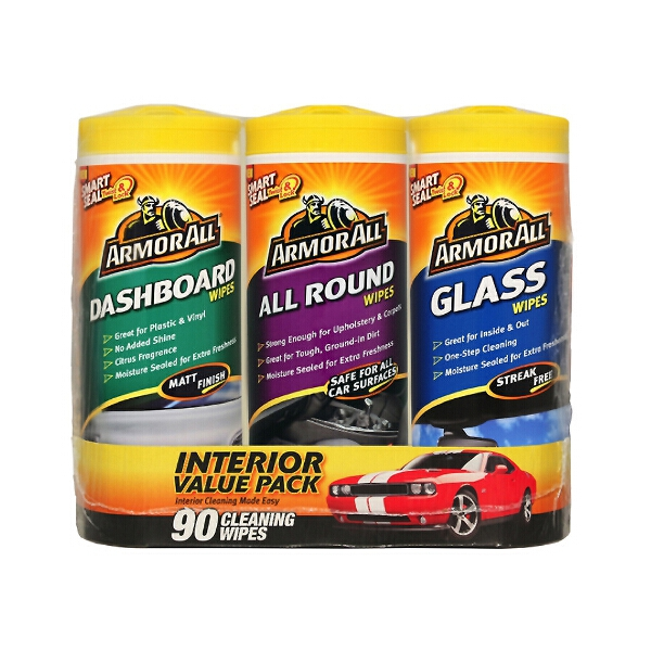 Armorall Interior Cleaning Wipes - Triple Pack
