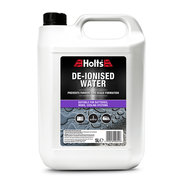 Holts De-ionised Water  5LTR