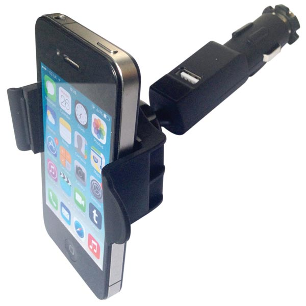Streetwize Mobile Phone Holder With 1 Usb Plug