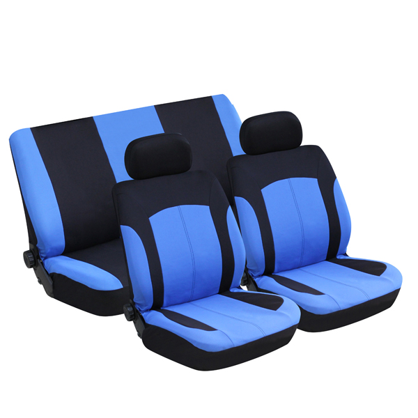 Streetwize Utah Black / Blue Polyester Seat Cover Set