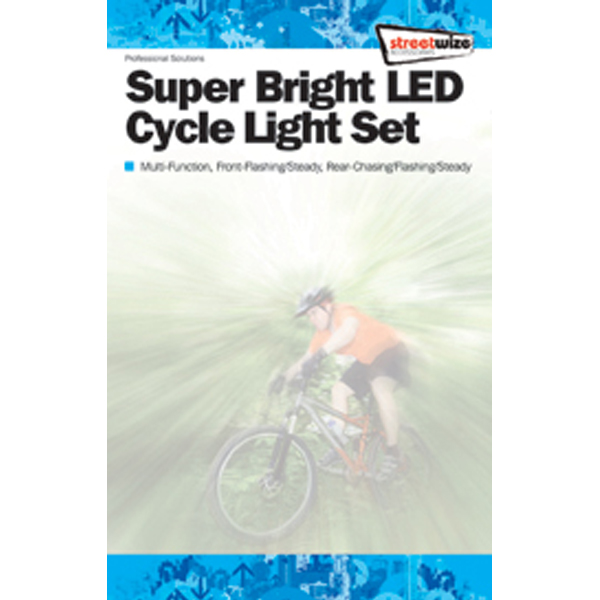 Streetwize Front & Rear Multi Function Superbright Led Bike Light Set