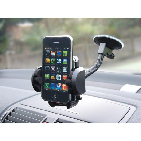 Streetwize Sat Nav, Mob Phone, Mp3 Flexible Windscreen Suction Holder
