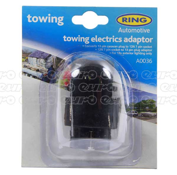 Ring 13 Pin Plug / 7 Pin Socket Adaptor