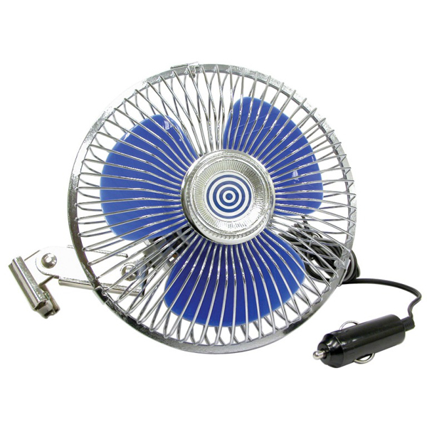 "Carpoint 24 Volt Car Interior 6"" (150mm) Oscillating Cooling Fan with Screw Fix"