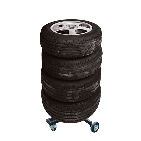 Carpoint Movable 4 Wheel Storage Tyre Tree & Cover